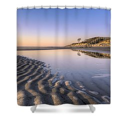 Morning On Jekyll Island Shower Curtain by Debra and Dave Vanderlaan