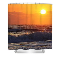Morning On The Beach Shower Curtain by Bruce Bley
