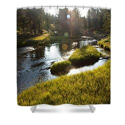 Morning On The Firehole Shower Curtain