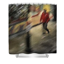 Morning People - The Man Shower Curtain