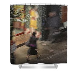 Morning People - The Woman Shower Curtain