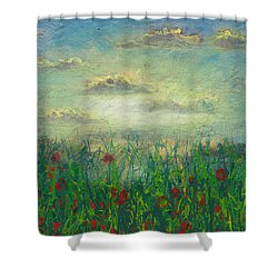 Morning Roses Shower Curtain