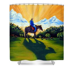 Morning Rounds Shower Curtain