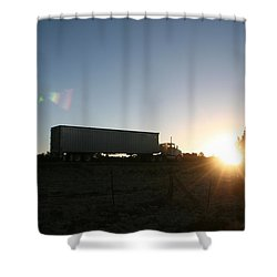 Shower Curtain featuring the photograph Morning Run by David S Reynolds