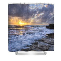 Morning Rush Shower Curtain by Debra and Dave Vanderlaan