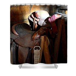 Morning Saddles Shower Curtain by Newel Hunter