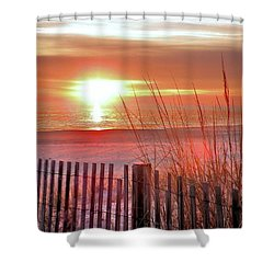 Morning Sandfire Shower Curtain by Kim Bemis
