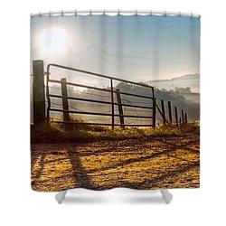 Morning Shadows Shower Curtain by Debra and Dave Vanderlaan