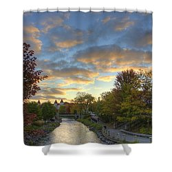 Morning Sky On The Fox River Shower Curtain