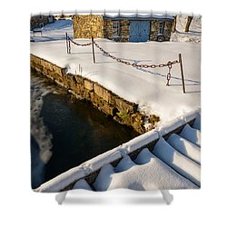 Morning Snow Shower Curtain