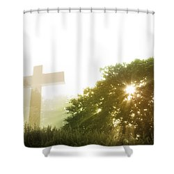 Morning Spirit Shower Curtain by Les Cunliffe