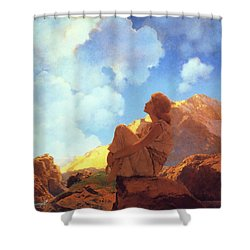 Morning Spring Shower Curtain by Maxfield Parrish