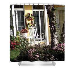 Shower Curtain featuring the photograph Morning Sun by John Glass
