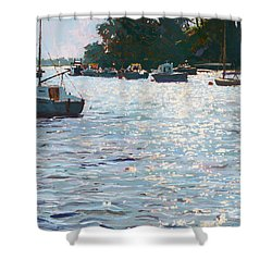 Morning Tide Shower Curtain by Martin Decent