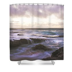 Morning Waves Shower Curtain by Brian Harig