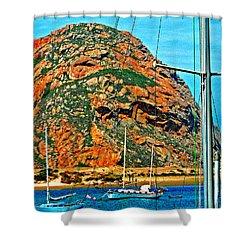 Moro Bay Sailing Boats Shower Curtain