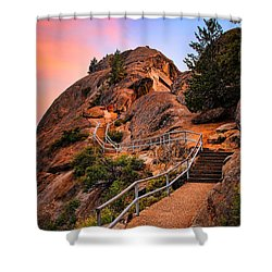 Moro Rock Path Shower Curtain by Inge Johnsson