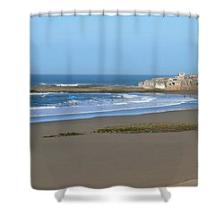 Moroccan Fishing Village Shower Curtain