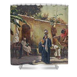 Moroccan Scene Shower Curtain by Rudolphe Ernst