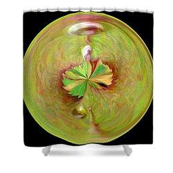 Morphed Art Globe 21 Shower Curtain by Rhonda Barrett