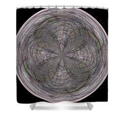 Morphed Art Globe 26 Shower Curtain by Rhonda Barrett