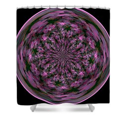 Morphed Art Globe 28 Shower Curtain by Rhonda Barrett