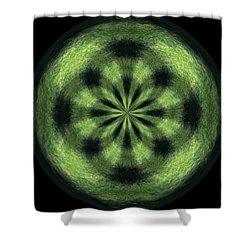 Morphed Art Globe 35 Shower Curtain by Rhonda Barrett