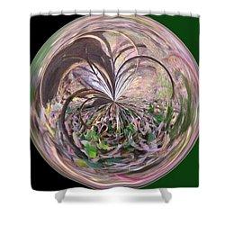 Morphed Art Globe 36 Shower Curtain by Rhonda Barrett