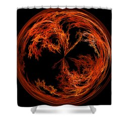 Morphed Art Globe 37 Shower Curtain by Rhonda Barrett