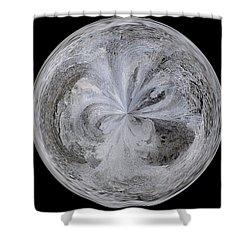 Morphed Art Globe 4 Shower Curtain by Rhonda Barrett