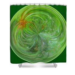 Morphed Art Globe 5 Shower Curtain by Rhonda Barrett