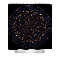 Morphed Art Globes 14 Shower Curtain by Rhonda Barrett