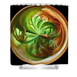 Morphed Art Globes 16 Shower Curtain by Rhonda Barrett