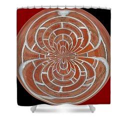 Morphed Art Globes 17 Shower Curtain by Rhonda Barrett