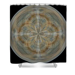 Morphed Art Globes 25 Shower Curtain by Rhonda Barrett
