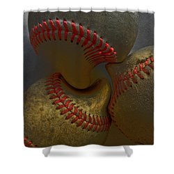 Morphing Baseballs Shower Curtain by Bill Owen
