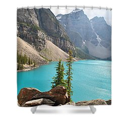 Morraine Lake Shower Curtain