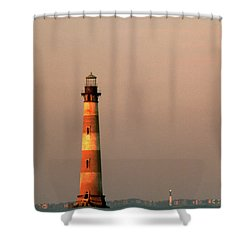 Morris Island  And Sulivan Island Lighthouses  Shower Curtain by John Harmon