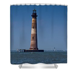 Morris Island Light With Sullivan's Shower Curtain