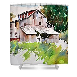 Morrison Mill Burnt Prairie Illinois Shower Curtain by Spencer Meagher