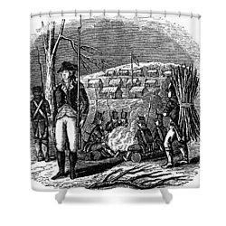 Morristown: Encampment Shower Curtain by Granger