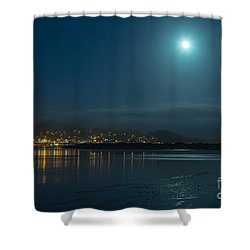 Morro Bay At Night Shower Curtain