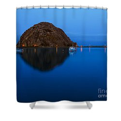 Morro Bay Calm Morning Shower Curtain