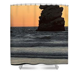 Morro Beach Sunset Shower Curtain