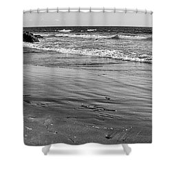 Morro Beach Walk Shower Curtain