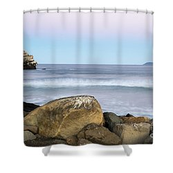 Morro Rock Morning Shower Curtain