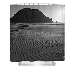 Morro Rock Silhouette Shower Curtain