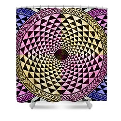 Mosaic Circle Symmetric  Shower Curtain by Tony Rubino