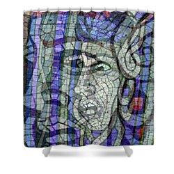 Mosaic Medusa Shower Curtain by Tony Rubino