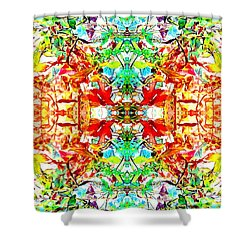Mosaic Of Spring Abstract Art Photo Shower Curtain